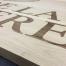 hout gravure graveren eiken