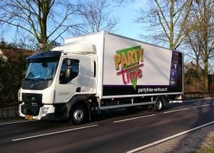 vrachtwagen belettering party-time