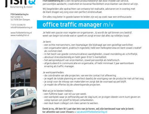 Wij zoeken nieuwe collega's! > Office traffic manager m/v 40 uur